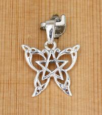 Anhänger Silber Keltische Knoten - Dreifaltigkeit - Pentagramm -  Schmetterling