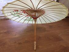 Japanese Parasol Bamboo Silk Styled Summer Picnic Boho Chic