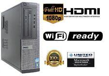 FAST Dell OptiPlex DT Intel i5 Quad 4GB/8GB WiFi HDMI/VGA OUT DVD BURNER