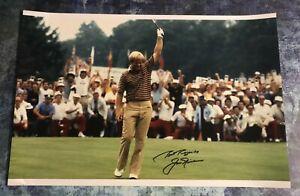 GFA PGA Open Masters Champion JACK NICKLAUS Signed 12x18 Photo J1 COA