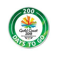 333226 2018 GOLD COAST COMMONWEALTH GAMES 200 DAYS TO GO ROUND METAL TIE PIN