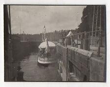 PHOTO ANCIENNE Écluse Promenade Bateau Vedette Dinardaise Dinard Vers 1910