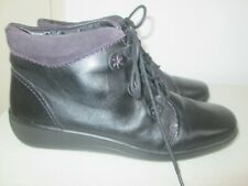 Hotter - Indulge black leather ankle boots - size 8