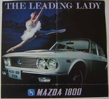 Mazda 1800 Luce Saloon 1969-1971 Original UK Sales Brochure Pub. No. B4'6904T