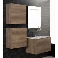 Composizione sospesa Unika 160 mobile arredo bagno lavabo specchio e miscelatore