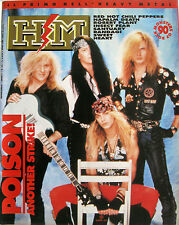 HM 92 1990 Poison Robert Plant Napalm Death Red Hot Chili Peppers Heart Randagi