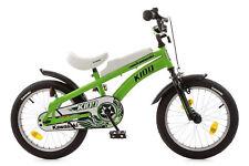 """Kinderfahrrad 16"""" Kawasaki -Kidd mit Seitenständer grün-schwarz 512-KW-34"""