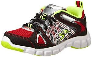 NIB Stride Rite Athletic Shoes  Propel Black Red Lime Green 10