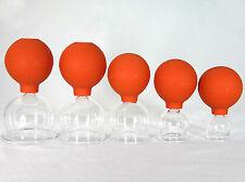 Schröpfgläser Schröpfglas Schröpfset 5 Stück 25-65 mm mit Saugball zum Schröpfen