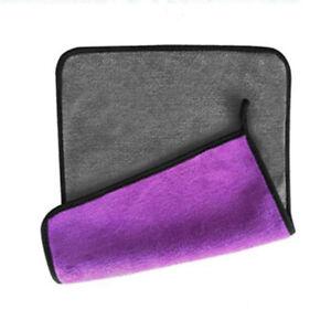 1pc High Density Coral Fleece Thickening Microfiber Car Wash Towel Kitchen