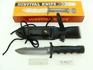 NOS PARKER BROS JAPAN K342 SAWBACK HOLLOW HANDLE TACTICAL SURVIVAL KNIFE KNIVES