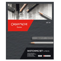Caran d'Ache 14 Piece Grafwood Sketching Drawing Shading Lead Pencil Set