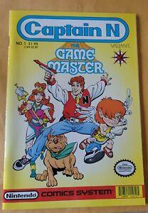 CAPTAIN N GAME MASTER #1 VERY RARE VALIANT BOOK NINTENDO