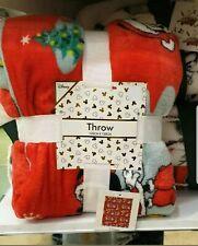 Disney Mickey Mouse Christmas Cosy Super Soft Fleece Blanket Throw BNWT Primark