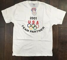 NWT VNTG 2001 USA OLYMPICS TEAM PARTNER Official Licensed HANES T Shirt Large