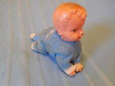 VINTAGE MECHANICAL CRAWLING BABY DOLL BOY UNIQUE ANTIQUE WORKS