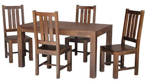 BRAND NEW DAKOTA DARK 145CM  DINING TABLE ONLY  WITHOUT CHAIRS-SOLID MANGO WOOD