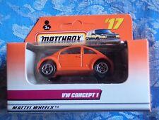 Matchbox Volkswagen VW Concept 1 Beetle Convertible 1999 #61