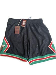 Mitchell Ness Chicago Bulls Shorts Gold Black Red Green Neapolitan MN