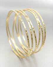 CHIC UNIQUE Urban Anthropologie Burnished Mat Gold Ribbed Wire Bangle Bracelet