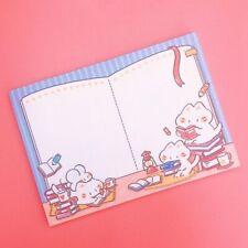 Kawaii Illustrated Memo Pad Cats Book Club Japanese Cute Neko 50 SHEET Medium