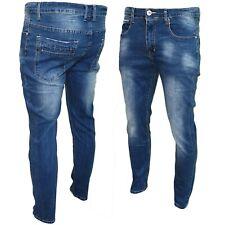 Jeans uomo pantaloni slim fit elasticizzati Skinny cotone denim J-H1912