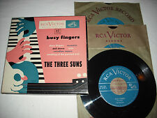 """THE THREE SUNS-Busy Fingers (1949) RCA VICTOR 3x 45 7"""" Box Set"""