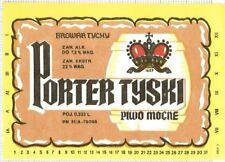 POLAND Browar Tychy PORTER Tyslo Mocne beer label C1638