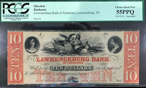Lawrenceburg, TN- Lawrence Bank of Tennessee $10 Remainder HARD TO FIND