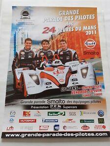 affiche 24 Heures du Mans la parade des pilotes 2011
