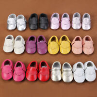 USA Baby Soft Sole Leather Shoes Toddler Infant Boy Girl Tassel Moccasin Quality