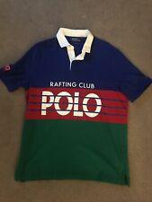 Polo Ralph Lauren Hi Tech Rafting Club S/S Rugby Shirt Royal Sz L P Wing 1992 93