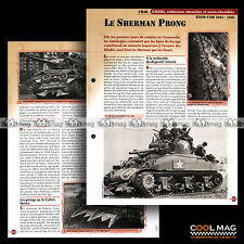 #vm069.03 ★ CHAR SHERMAN PRONG USA 1944-1945 WW2 ★ Fiche Véhicule Militaire