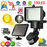 100 LED Solar Powered PIR Motion Sensor Garden Outdoor Wall Flood Security Light