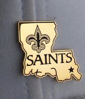 "saints pin new orleans saints NFL LAPEL PIN TEAM LOGO NEW ORLEANS SAINTS 1"" size"