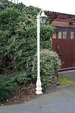 USED Ex-Display 2.7m Cream Swan Neck Garden Contemporary Cast Iron Lamp Post