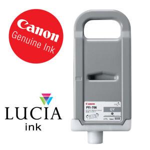 Original Tinte Canon iPF8300 iPF8400 iPF9400 / PFI-706GY GREY 700ml Date 2019