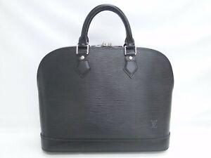 Auth LOUIS VUITTON Hand Bag Alma M52802 Epi Leather Black France 38180322000 K