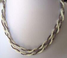 collier bijou rétro petites perles torsadées attache couleur or 312
