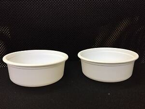 250 cc Plastic Round Containers / White New Microwave Safe No Lids