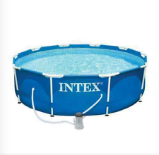 "~ Hot Sale ~ Intex 10'x30"" Metal Frame Swimming Pool Set w/ Filter Pump"