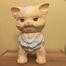 Vintage Edward Mobley Cat Squeak Toy Arrow Rubber/Plastics Co  Sleepy Eyes 1960
