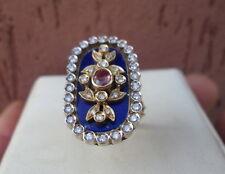 anello oro giallo 18.kt  rubino ,smalti e diamanti.Pregevole maestro orafo.