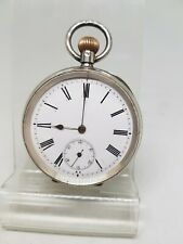 Quality antique solid silver gents pocket watch c1900 working ref1314