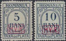 BG I.WK, MV Rumänien, Portomarken Mi.Nr. P 6-P 7, postfrisch, KB Wasels BPP