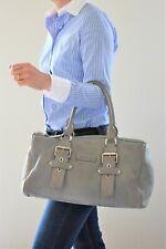 Longchamp, Sac Kate Moss boston, en cuir grainé gris