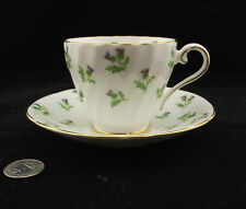 AYNSLEY SCOTCH  THISTLE CABINET TEA CUP AND SAUCER