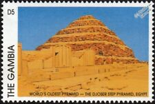 DJOSER STEP PYRAMID Egypt World's Oldest Pyramid Archaeology Stamp (1997 Gambia)