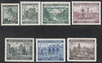Stamp Germany Bohemia Czech Mi 055-61 Sc 26,43-8 1940 WWII Fascism Castle MNH