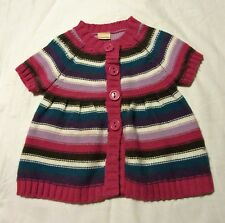 CHEROKEE button up chunky-knitted striped CARDIGAN in various colours 7-8 yrs
